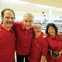 NS Bowl3 Special Olympians   Mar 22-18         The Alley Cats are Michael Joseph,Gary Jones,Daniel Gwenda and Emilie Narcies. photo Mike Wakefield