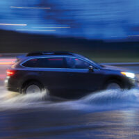 Traffic in the rain  dec 082015  Morning commuters wade through the deep puddles under the Lynn Valley Hwy one overpass-News