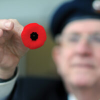 Poppy Drive  Nov 09 2020photos Mike WakefieldKeith Willett 1st Vice President ,service officer of the Branch 114 Lynn Valley selling poppies outside of Superstore in the semour area.Part of the annual Poppy drive.